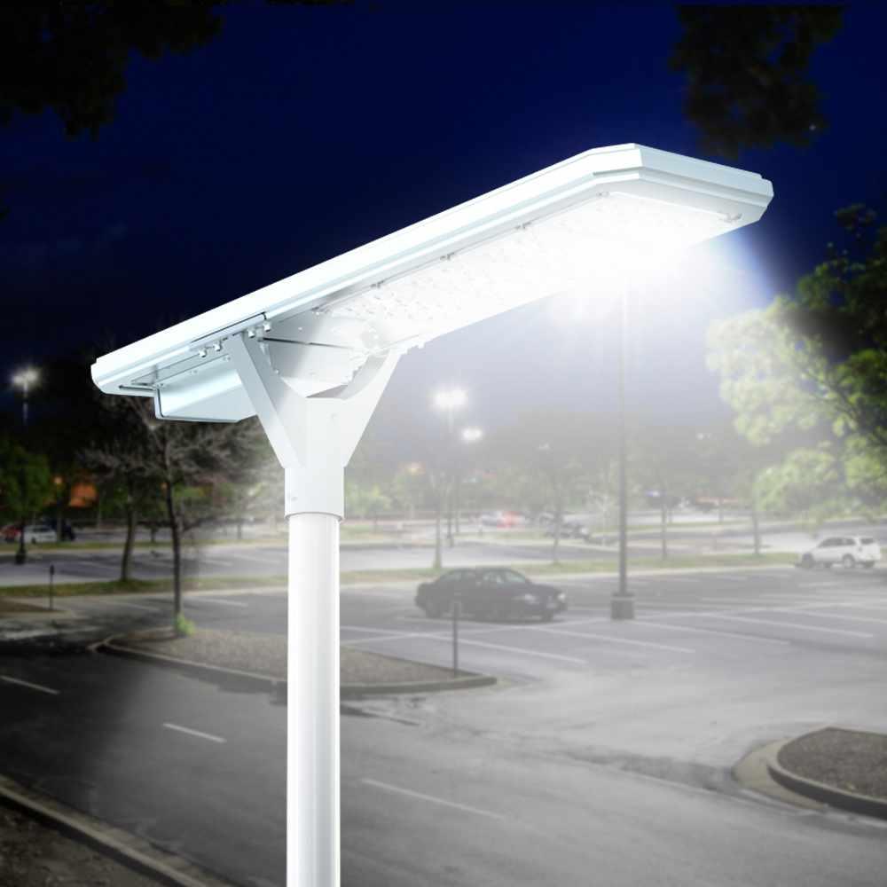Lampadaire solaire routier Led 4000 lumens panneau et capteurs integrés Megatron