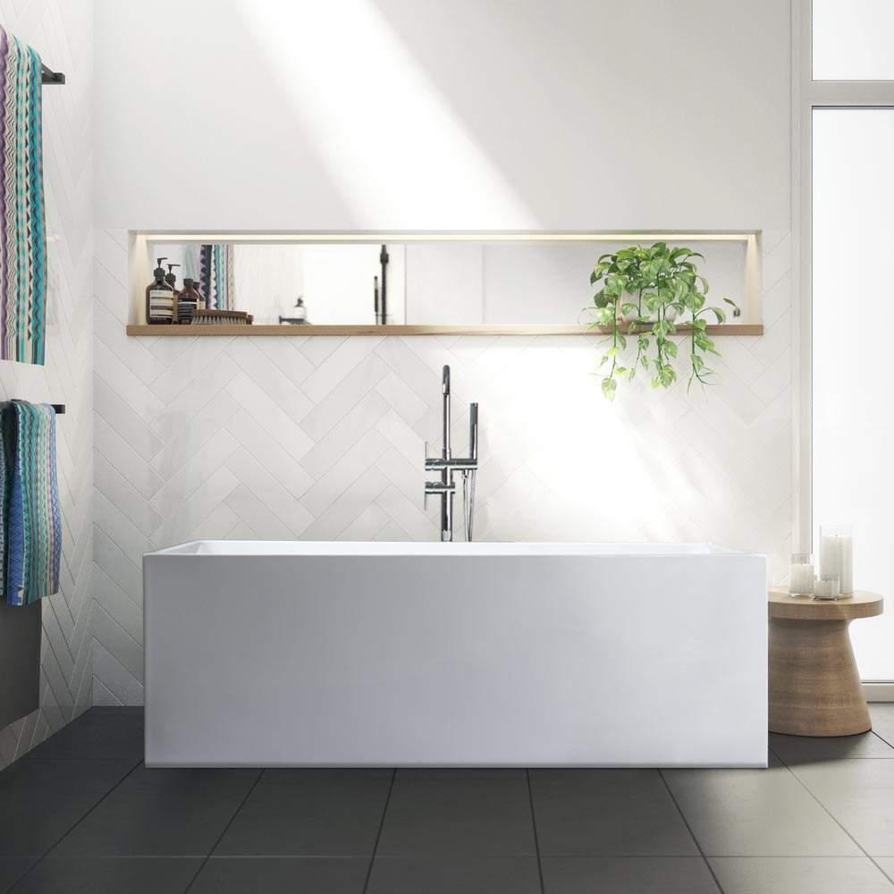 Eubea Vasca Da Bagno Freestanding Design Classico In Resina Acrilica