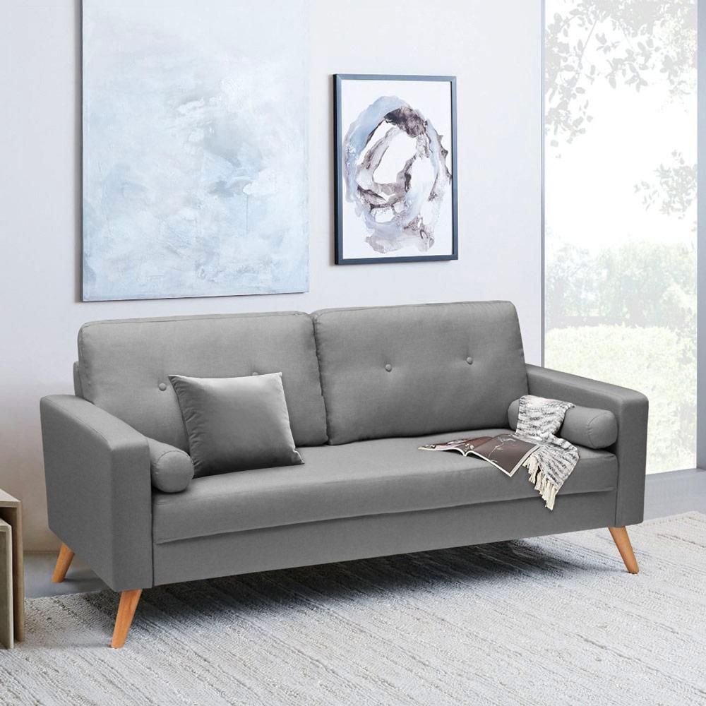 Acquamarina Sofa Design Moderne Scandinavische Stijl Stof 3 Zitplaatsen Voor Woonkamer En Keuken