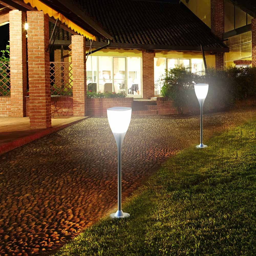 Réverbère lampe solaire jardin Led extérieure Sunway
