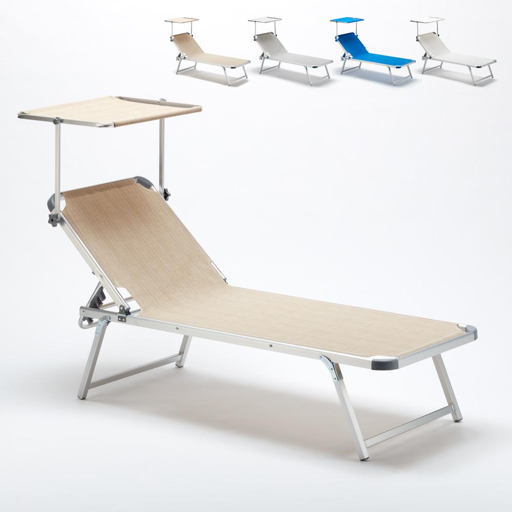 Bain de soleil en Aluminium pour lq plage avec parasol réglable Nettuno