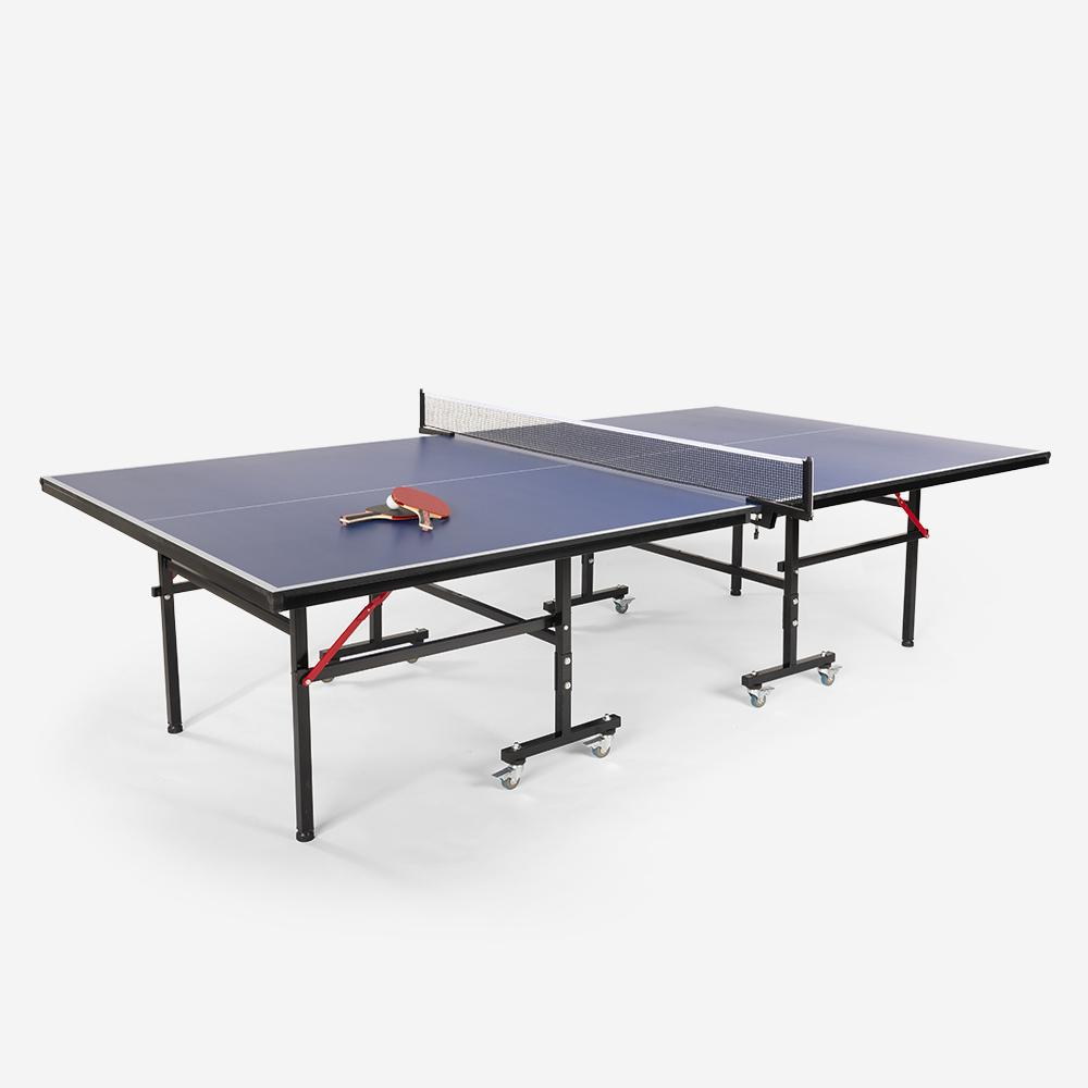 Table de ping-pong pliante professionnelle 274x152,5 cm avec tendeur de raquette pour balles Booster